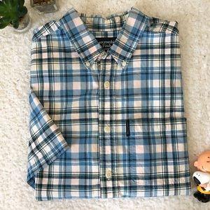 Abercrombie Blue White Button Shirt Down Men Med